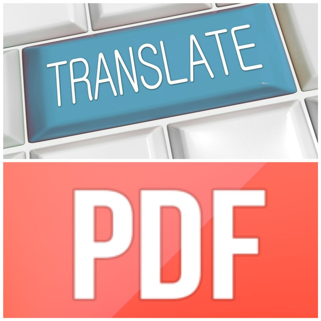 How to translate PDF file into English